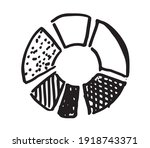 pie diagrams hand drawn icons.... | Shutterstock .eps vector #1918743371