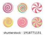 christmas round candy set. mint ...