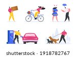 set of colorful vector... | Shutterstock .eps vector #1918782767