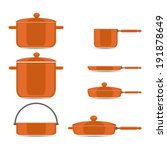 pans and pots  pan for soup pot ... | Shutterstock .eps vector #191878649