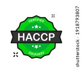 haccp badge green stamp icon in ... | Shutterstock .eps vector #1918793807