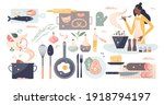 cooking set as household... | Shutterstock .eps vector #1918794197