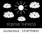 positive mindset  optimistic... | Shutterstock .eps vector #1918794824
