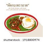 stir fried chicken with basil...   Shutterstock .eps vector #1918800974