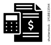 calculator with paper  budget... | Shutterstock .eps vector #1918813544
