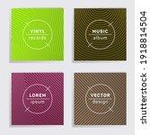 gradient vinyl records music...   Shutterstock .eps vector #1918814504