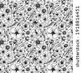 seamless floral pattern hand... | Shutterstock .eps vector #1918816451