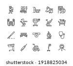 medical examination equipment...   Shutterstock .eps vector #1918825034