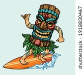 surfing vintage concept with... | Shutterstock .eps vector #1918830467