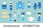disinfect vector icon. hygiene. ... | Shutterstock .eps vector #1918847144