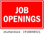 job openings sign with text.... | Shutterstock .eps vector #1918848521