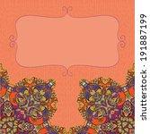 decorative floral background ... | Shutterstock .eps vector #191887199