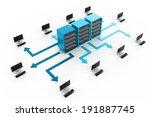 computer network | Shutterstock . vector #191887745