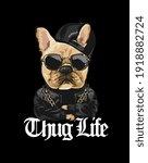 thug life slogan with cartoon... | Shutterstock .eps vector #1918882724