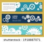 header web banners techno gears ...   Shutterstock .eps vector #1918887071
