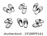 sleeping slippers couple set... | Shutterstock .eps vector #1918899161