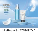 cosmetic tube with moisturizing ... | Shutterstock .eps vector #1918908977