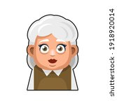 old woman cartoon icon. cute... | Shutterstock .eps vector #1918920014