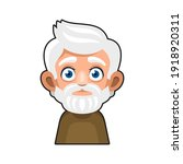 old man cartoon icon. cute... | Shutterstock .eps vector #1918920311