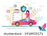 car insurance concept.... | Shutterstock .eps vector #1918925171