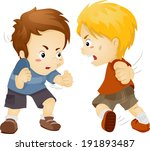 illustration featuring two boys ... | Shutterstock .eps vector #191893487