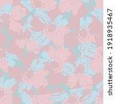 pink floral brush strokes... | Shutterstock .eps vector #1918935467