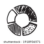 pie diagrams hand drawn icons.... | Shutterstock .eps vector #1918936571