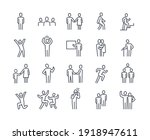 human silhouettes icon set.... | Shutterstock .eps vector #1918947611