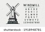Mill Vintage Old Logo. Vintage...