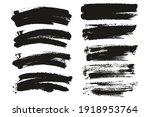 round sponge thin artist brush... | Shutterstock .eps vector #1918953764