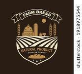farm bread bread badge  logo.... | Shutterstock .eps vector #1918975544