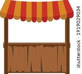 wooden trade shop under the...   Shutterstock .eps vector #1919029034