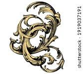 frame vintage or retro border...   Shutterstock .eps vector #1919037191