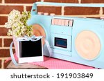still life with colorful retro... | Shutterstock . vector #191903849