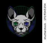 sphynx cat logo. vector eps 10 | Shutterstock .eps vector #1919045354
