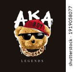 legends slogan with bear doll...   Shutterstock .eps vector #1919058077