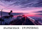 Aesthetic Illustration Of A...