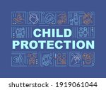 child protection from abuse...   Shutterstock .eps vector #1919061044