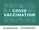 covid vaccination word concepts ...