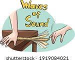 sound wave experiment with...   Shutterstock .eps vector #1919084021