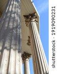 Roman Column In The Gazebo