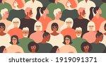 crowd of young and elderly men... | Shutterstock .eps vector #1919091371