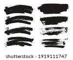 round sponge thin artist long... | Shutterstock .eps vector #1919111747