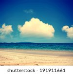 white clouds over fiume santo... | Shutterstock . vector #191911661