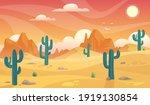 desert landscape. desert area ...   Shutterstock .eps vector #1919130854