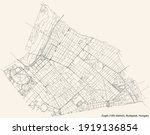 black simple detailed street... | Shutterstock .eps vector #1919136854