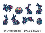 happy easter  decorated easter... | Shutterstock .eps vector #1919156297