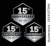 15 years anniversary... | Shutterstock .eps vector #1919157344