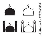 collection of mosque dome...