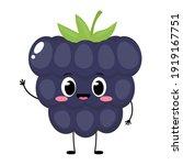 cute happy blackberry character....   Shutterstock .eps vector #1919167751